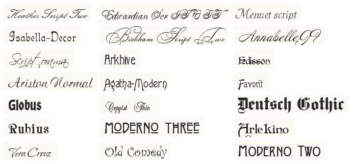 набор шрифтов для фотоскайпа