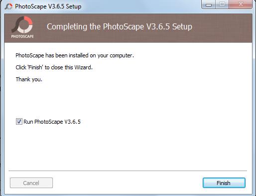 Процесс установки photoscape - шаг 3